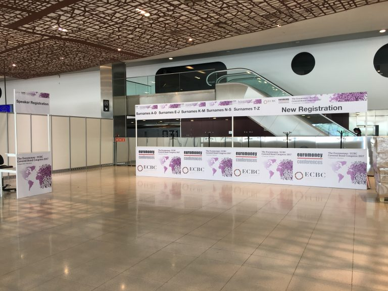 1 forex direct printed to reception desks in CCIB Forum Barcelona