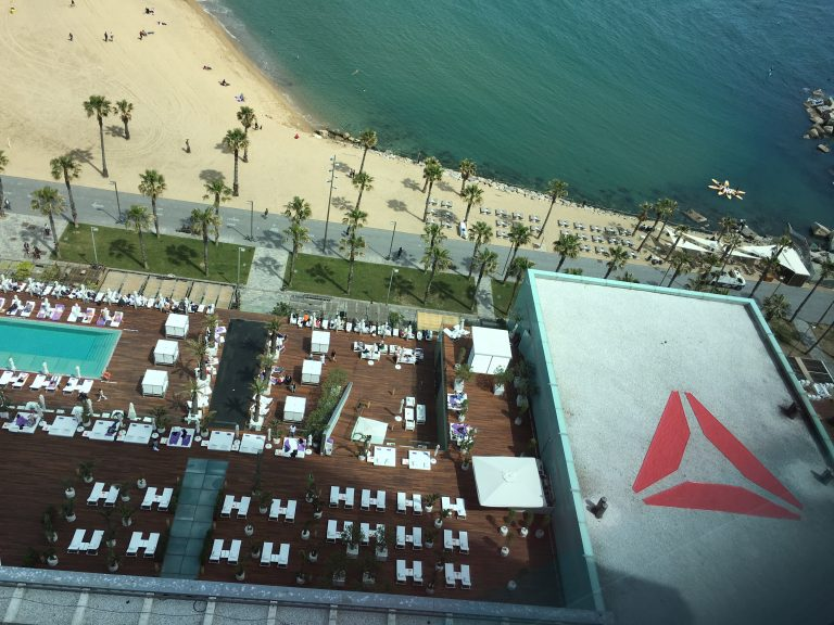 4 printed frontlit banner on roof of W hotel for Reebok